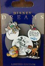 DLR Disney Dreams Collection Animation Pooh Piglet Bambi Sleepy Pin LE 1000
