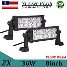 2X 36W 8inch LED Work Light Flood Driving Fog Light Off Road SUV Truck 6000K 4WD