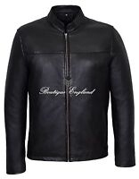 f87553830399d1 Leon Men s Black Classic Biker Style Fitted Lambskin Real Leather Jacket 257