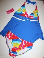 Xhilaration Blue Tye Dye 2 Piece Bathing Suit Swimsuit Skirt Size Large 10/12
