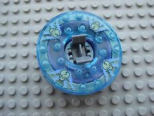 Lego Ninjago SPINNER for Minifigures -WYPLASH- Trans-Light Blue Skulls 2175
