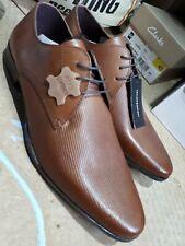Taylor & Wright Marrones Cuero Con Cordones Zapatos Talla 10 totalmente nuevo con etiquetas