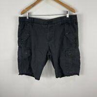 Industrie Mens Cargo Shorts 36 Slim Grey Pockets