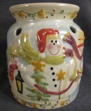 Yankee Candle Tarts Wax Melt Warmer Winter Smiling Snowmen Christmas Small Chip