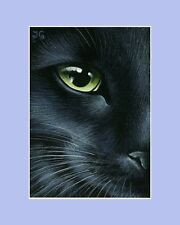 Black Cat ACEO Print A Little Perspective by Irina Garmashova
