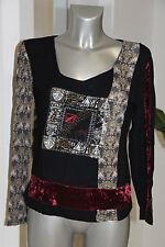 suéter fino negro y multicolor AVENTURES DES TOILES talla 38 excelente estado