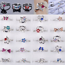 10pcs Wholesale Lots Crystal Rhinestone Ring Mixed Children Kids Rings Jewelry
