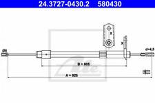 Seilzug, Feststellbremse für Bremsanlage Hinterachse ATE 24.3727-0430.2