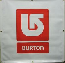 BURTON snowboard 2009 dealer only Corp Square banner Red New Old Stock Flawless