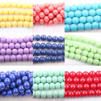 Lots 20/50Pcs Czech Glass Opaque Multi-color Round Loose Spacer Beads DIY 8mm