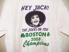 HEY JACK NICHOLSON THE JOKES ON YOU BOSTON CELTICS 2008 WORLD CHAMPS T-SHIRT XL