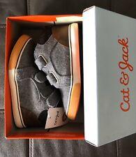 Boy's Harrison Casual Sneakers By Cat & Jack, Grey, Flannel Upper, size 10