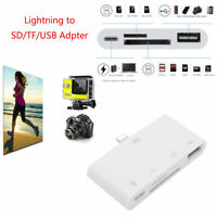 Lightning to TF SD Card Reader Camera USB OTG Adapter Charger for iPhone iPad