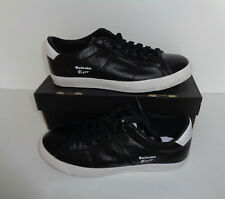 Onitsuka Tiger Lawnship New Ladies Black Leather Trainers Shoes RRP £70 Size 4