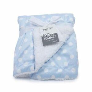 Bubba Blue Polka Dots Cuddle Blanket Blue