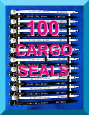 CARGO / TRUCK DOOR SECURITY SEALS, HIGHER-SECURITY, 100 SEALS, BLACK / WHITE