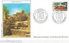 1986-ENVELOPPE ILLUSTREE 1°JOUR - SITE DE FILITOSA-(20.CORSE)TIMBRE Yv.2401