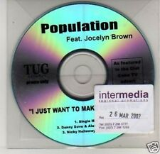(K303) Population, I Just Want to Make Love to Y- DJ CD