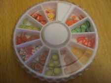Fimo FRUIT SLICES in wheel x180 pieces Nail art/ cardmaking etc TS UK seller
