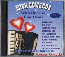 MICK EDWARDS - WITH HOPE IN YOUR HEART - CD - FREE POST IN UK