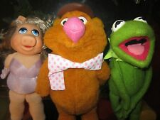 VINTAGE LOT- Fisher Price Henson MUPPETS- Kermit, Fozzie, Miss Piggy (1976-1980)