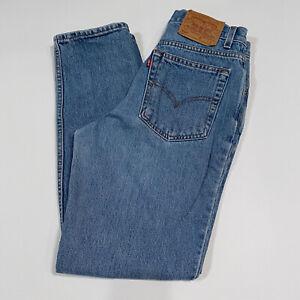 1990 Vintage High Waist Levi's 512 Slim Fit Straight Leg Jeans Juniors Sz 9