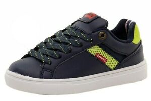 Levi's Boy's Henry Energy Fashion Navy/Lime Sneakers Shoes