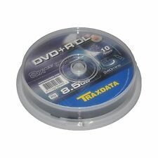 10 Traxdata DVD+R DL 8.5GB Double Layer DVD Recordable (8x) Dual Layer