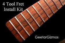 4 TOOL BEGINNER FRET REPAIR / INSTALL KIT for Guitar - Pullers File Level Punch