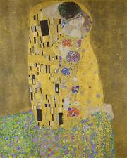 The Kiss Gustav Klimt Symbolism Art Canvas Print HQ Home Decor Small 8x10