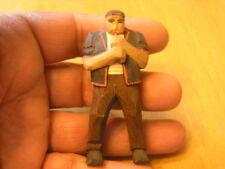 Miniature Antique Quebec Folk Art Wood Sculpture Andre Bourgault Alphorn Player