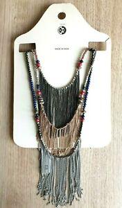 Krishna Beads Industries Necklace New Beaded Boho Hippy  Costume Jewellery