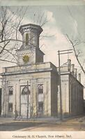 New Albany Indiana~Centenary Methodist Episcopal ME Church~1908 Postcard