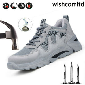 Safety Shoes Mens & Women Steel Toe Cap Work Boots Trainers Shoes Slip Resistant