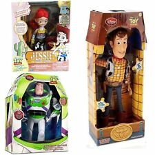 3 TALKING TOY STORY WOODY & JESSIE & BUZZ LIGHTYEAR KIDS ACTION FIGURES DOLL SET