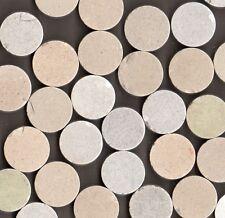 350 PIECES GREY MIX ROUND MOSAIC ORIGINAL PERIOD STONEWARE FLOOR TILES RECLAIMED