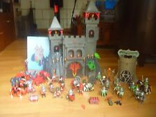 PLAYMOBIL chateau dragon rouge +personnages A SAISIR!