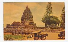 Java,Indonesia,Prambanan Temple,Horse Drawn Wagons,Used,2 Indonesia Stamps,1965