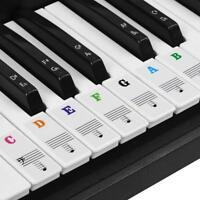 Clavier de musique ou piano autocollants 88 clé ensemble amovible laminé