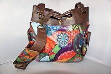 DESIGUAL Medio Digital Women's flowers Cross body Handbag Messenger Bag