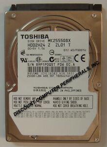 """250GB 2.5"""" SATA MK2555GSX HDD2H24 9.5mm Hard Drive Tested Good Our Drives Work"""