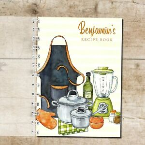 Personalised Recipe Cooks Notebook Journal Foodie Blank Recipes Lovely Gift