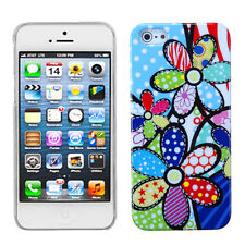 For iPhone 5 5S SE Ultra Slim HARD Phone Case BACK Cover Patch Works Flower