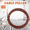5M Länge elektrische Stahldraht Einfädler Kabel führen Abzieher 3.3/4/6mm