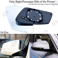 Right Passenger Out Side Heated Plane Mirror Glass fit for BMW 528 535 550 09-17