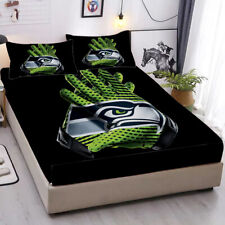 Seattle Seahawks Pocket Sheet 3PCS Fitted Sheets & Pillowcase Bedding Sets Gifts