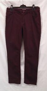 Jigsaw Ladies Burgundy Jeans Trousers UK Size 12 W32 L30