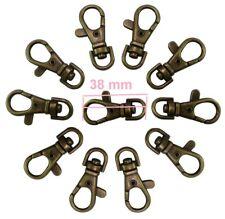Lobster Trigger Swivel Clip Hook Ring Snap Key Clasps Bag Antique Brass 38mm New