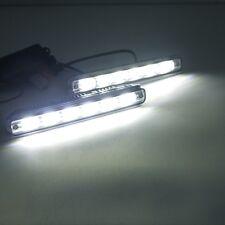 DC 12V/24V White COB LED Car Daytime Running Light DRL Fog Lamp With Controller