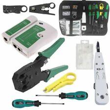 More details for rj45 ethernet cable crimping crimper network tester punch down impact tool kit